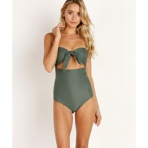Mikoh. Lana One Piece Swimsuit. Army Green.